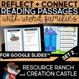 Digital Reading Comprehension Passages with Word Families Set 2