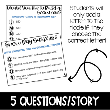 Winter Comprehension Passages and Questions: Google Drive