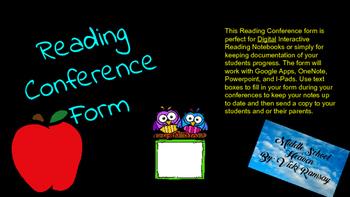 Digital Reading Conference Form