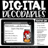 Digital Reading Decodable Readers | Google Classroom Distance Learning