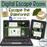 Digital Reading Escape Room - Escape the Rainforest