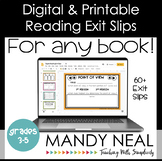 Digital and Printable Reading Exit Slip | Exit Tickets | D