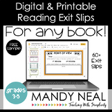 Digital & Printable Reading Exit Slip | Exit Tickets FREE