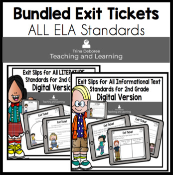 Digital Reading Exit Tickets BUNDLE for Second Grade