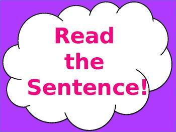Digital Reading Fluency Sentence Flash