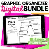 Digital Reading Comprehension Graphic Organizers Bundle