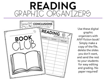 Digital Reading Graphic Organizers (Fiction)