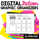 Digital Reading Graphic Organizers for Fiction Texts