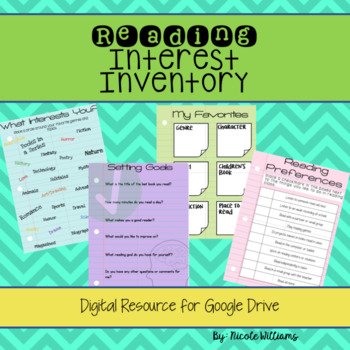 Digital Reading Interest Inventory for Google Drive