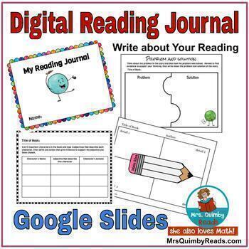 Digital Reading Journal   Google Slides   Paperless