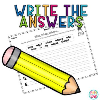 Digital Reading Literature Comprehension Task Cards