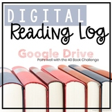 Digital Reading Log - 40 Book Challenge - Google Drive - EDITABLE
