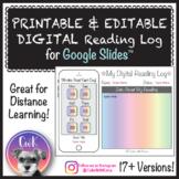 Digital Reading Log Distance Learning for Google Slides™