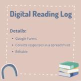 Digital Reading Log (Editable Google Form)