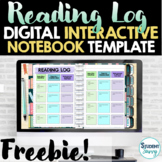 Digital Reading Log Free Interactive Notebook Template   G