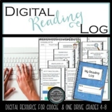 Distance Learning Reading Log for reading challenges, inde