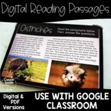 Digital Reading Passages Animals {Distance Learning}