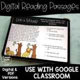 Digital Reading Passages Fables, Fairytales, Folktales, Myths -Distance Learning