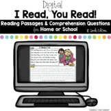 Digital Reading Passages for Home or School: 1st Grade Edition