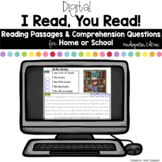 Digital Reading Passages for Home or School: Kindergarten Edition