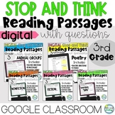Digital Reading Passages Citing Text Evidence Google Class