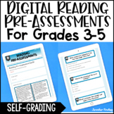 Digital Reading Pre-Assessments with Google Forms™ Distance Learning