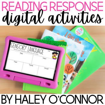 Digital Reading Response Activities {Distance Learning Comprehension}