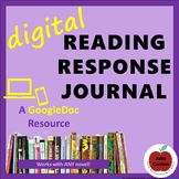 Digital Reading Response Journal for Independent Reading -