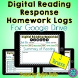 Digital Reading Response Logs for Google Drive