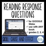 Digital Reading Response Questions for Google Slides - SKI
