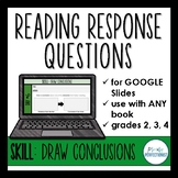 Digital Reading Response Questions for Google Slides - SKILL: DRAW CONCLUSIONS