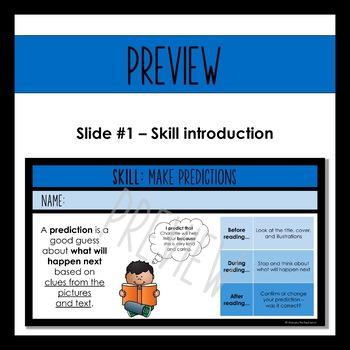 Digital Reading Response Questions for Google Slides - SKILL: MAKE PREDICTIONS