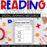 Digital Reading Response Sheets for Distance Learning