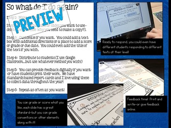 Digital Reading Responses for Any Fiction Text for GOOGLE and Distance Learning