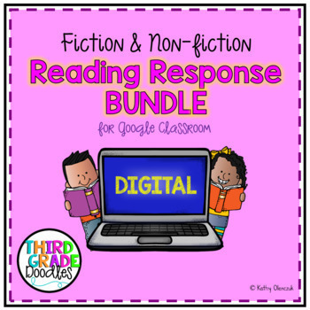 Digital Reading Response for Google Classroom -  Distance Learning Bundle