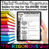 Distance Learning Digital Reading Responses and Reading Log