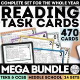 Digital Reading Skills Task Card Mega Bundle | Distance Le