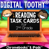 2nd Grade Digital Reading Toothy ® Task Cards Bundle | Dis