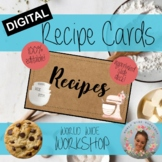 Digital Recipe Book Project - Blank Templates