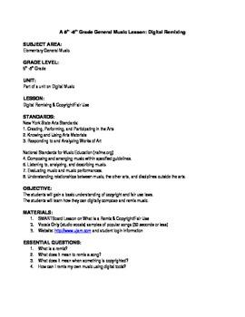 Digital Remix Lesson Plan/Unit