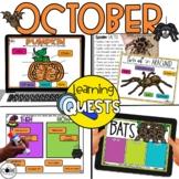 Digital Activities October: Pumpkins, Bat, Spider, Hallowe