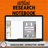 Digital Research Notebook Google Slides Distance Learning