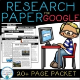 Digital Research Paper | Complete Unit for Intermediate Gr