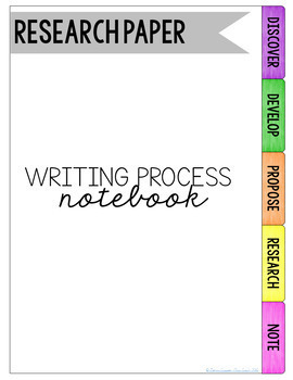 Research Paper Writing Process Notebook