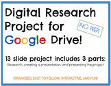 DIGITAL Google Drive Inventors Research Project. NO PREP!