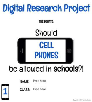 Digital Research Project: Cell Phones in Schools!