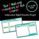 Digital Research Project Seven Natural Wonders of the World