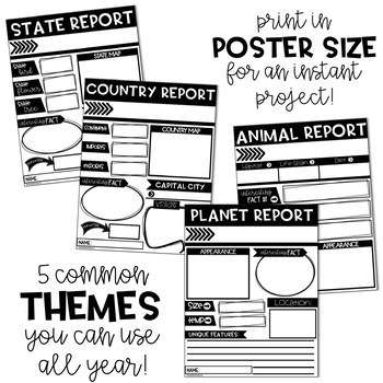 Paperless Research Report Posters (Google Classroom Writing Activities)