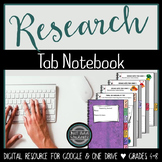 Digital Research Tab Book  {Google Drive & One Drive}