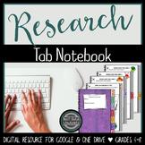 Digital Research Tab Book  {Google Drive & One Drive}